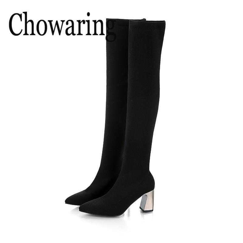 Acquista Sexy Sock Boots Donna 2018 Primavera Autunno Nuovo Knitting Long  Boot Partito Tacchi Alti Casual Slip On Ladies Over The Knee Boots A  75.98  Dal ... 559a5183cd0