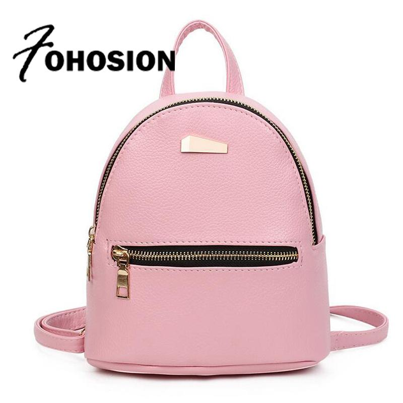 aa3906ed16 Fashion Mini Backpack For Teenage Girls School Bags High Quality Female  Leather Small Backpack Woman Back Pack Sac A Dos Femme Y18110201 Backpacks  For ...