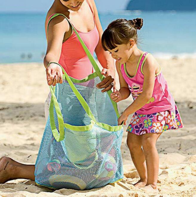 Baby Children Beach Mesh Bags Children Beach Toys Clothing Towel Bags Baby Toys Series Diapers Children's Gifts