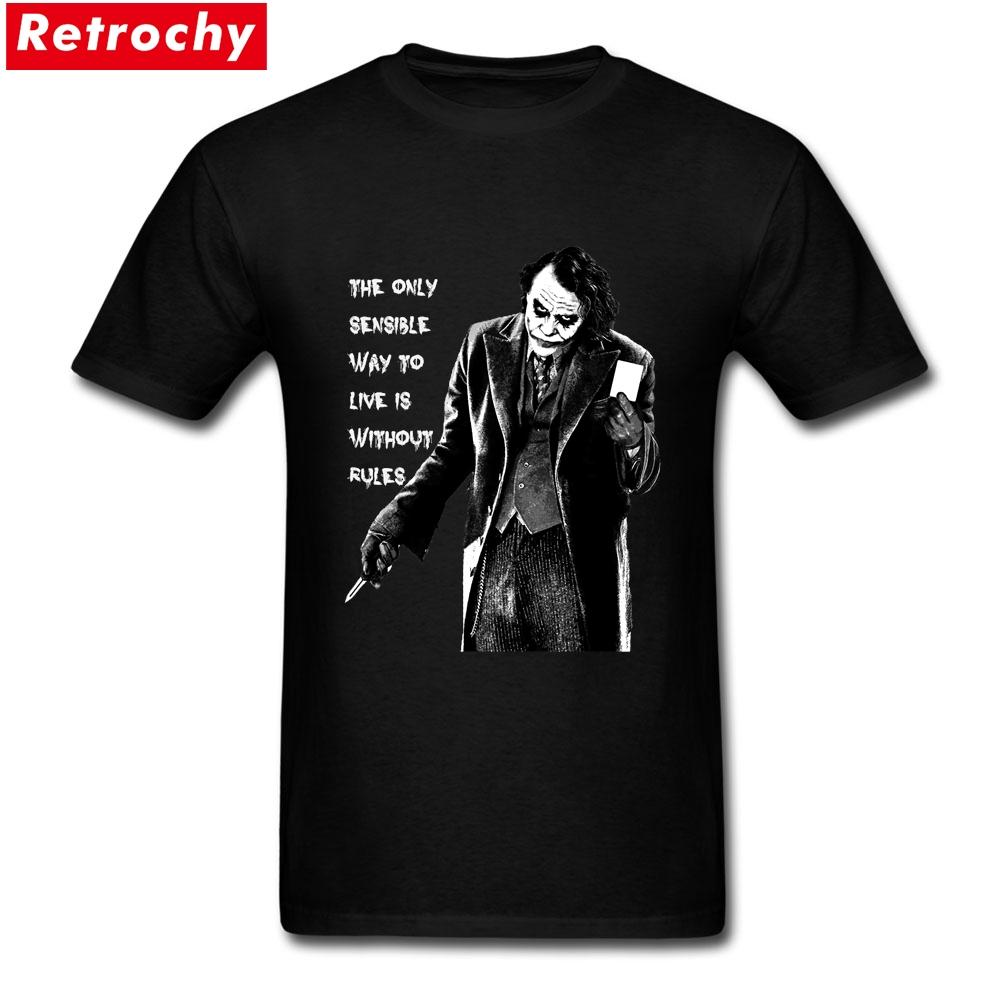 c7039d0d 2017 Latest Loose Fit Mens The Joker Quote T-shirts Custom Printed ...