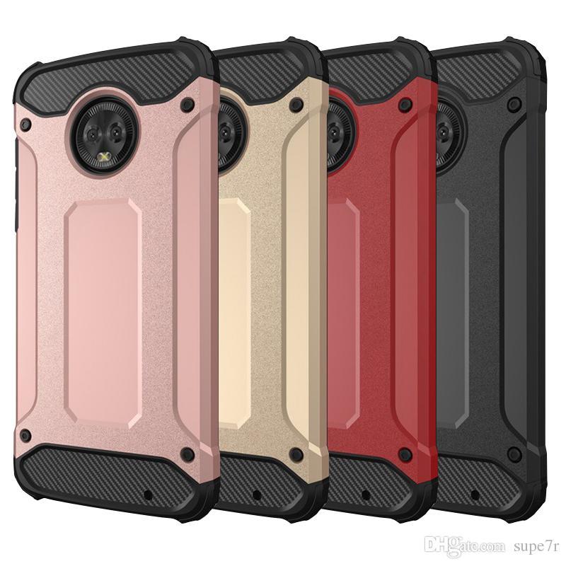 pretty nice ed6f2 cd7f9 For Moto G5 Plus Phone Case Pc Tpu Anti Drop Armor Case Moto E5 Play G6  Plus Back Cover Cases