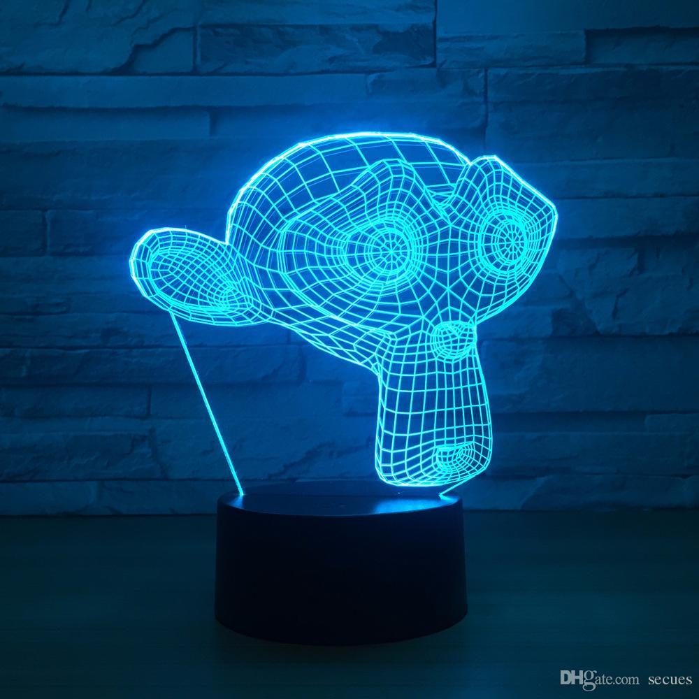 Dinheiro 3D Optical Illusion Lâmpada Night Light DC 5V Alimentado por USB 5 Bateria Atacado Dropshipping livre de Shipping