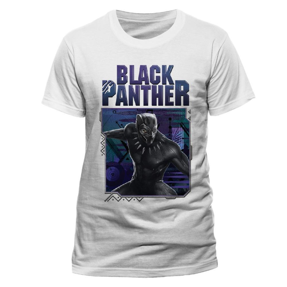 T Shirt Supplier Crew Neck Schwarzer Panther Geometrisch T-Shirt Comfort soft Short Sleeve Shirt For Men