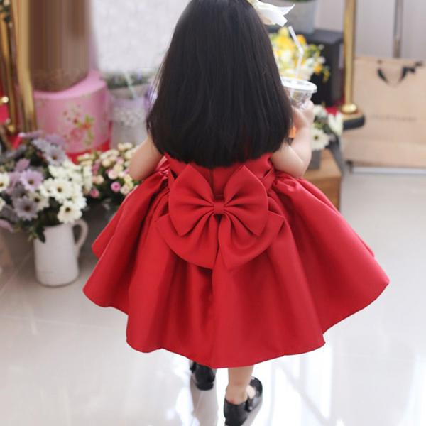 b9afb4e5a5bf9 Red Baby Girl Birthday Outfit, Flower Girl Dresses, Baby Girl Birthday  Dress, Red Bridesmaid Dress