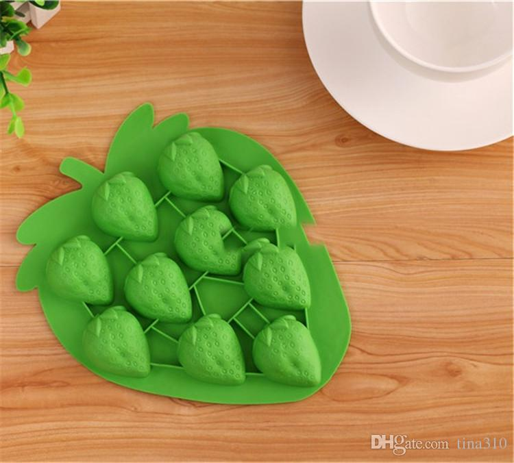 Neue kreative und farbenfrohe obst erdbeerform DIY Selbstgemachte eisgitter Home eisform küche Eismaschine T3I0018