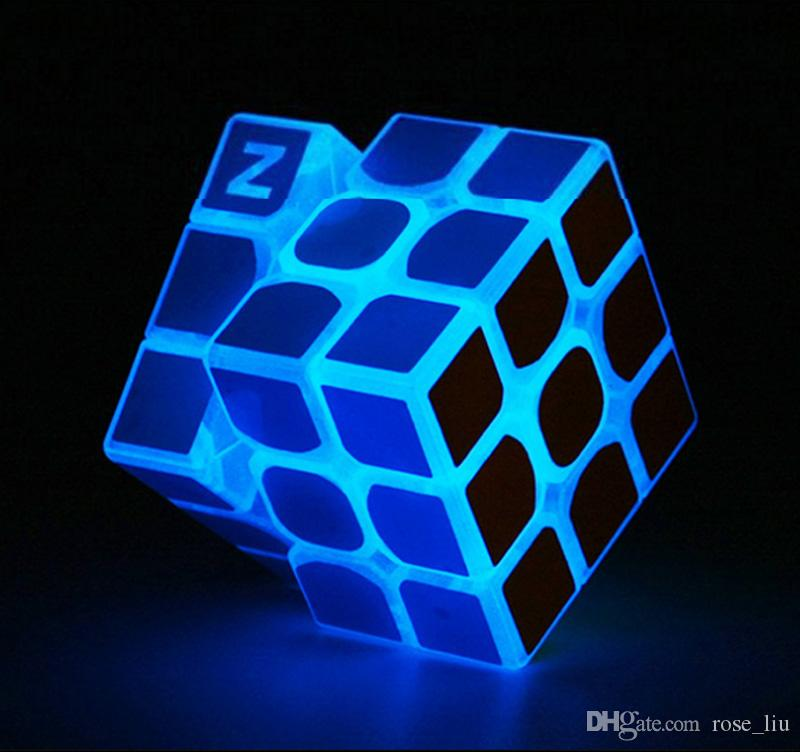 Free DHL Puzzle cube 5.7cm Noctilucous Luminous Magic Rubik Cube Game Rubik Learning Educational Game Rubik Cube Decompression toys B