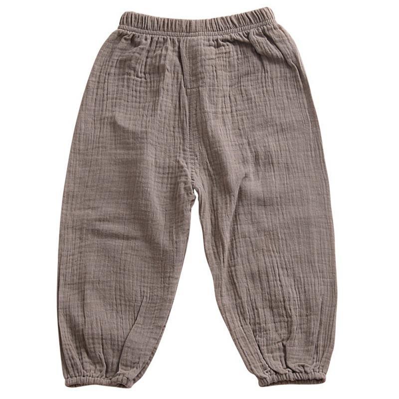 6b813e1dc Pantalón suelto para niños Ropa Niños Niñas Pantalones Harem Pantalones de  algodón sólido Pantalones de bebé otoñales