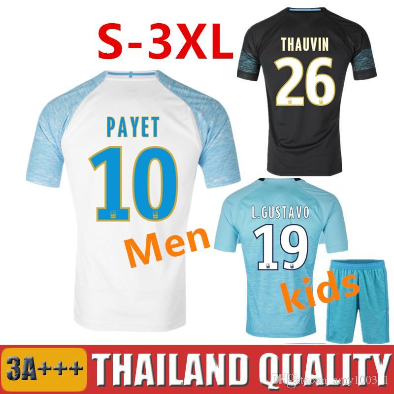 18 19 Olympique De Marseille Soccer Jersey 2018 2019 PAYET Football ... efe129053