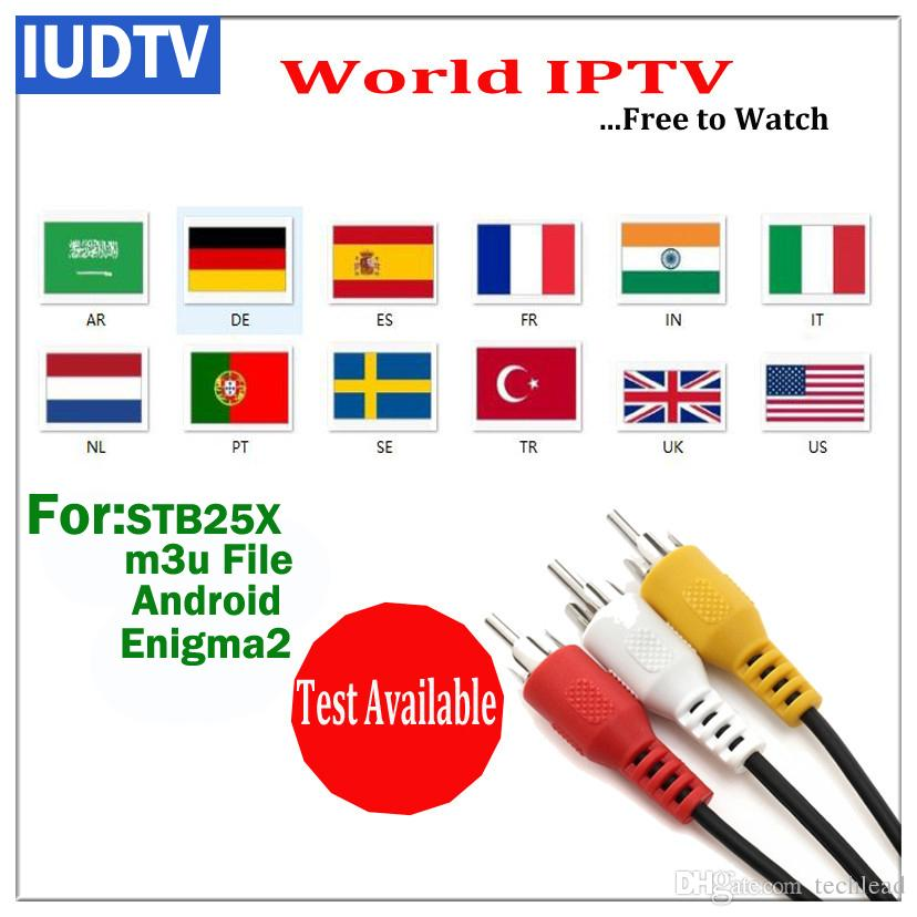 IUDTV Swedish TV Channels Dutch French Portuguese Spanish UK Poland Arabic  IPTV Abonnement Indian Sweden Greek European World IP TV M3U