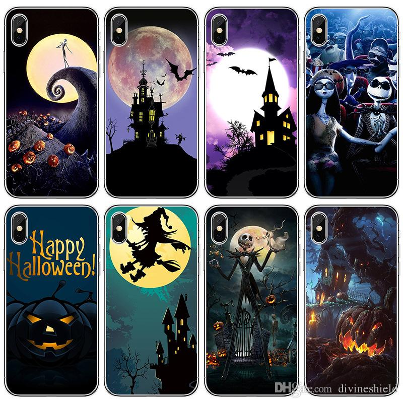Halloween Series Cellphone Cases for iPhone 9 Universal Soft Shell Cellphone Case for Samsung S8 Ghost Painted Cell Phone Shell