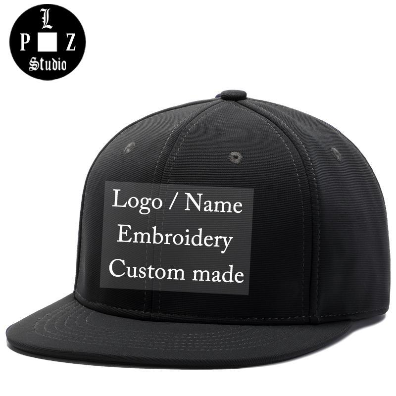 PLZ Custom Logo Snapback Baseball Cap Name Embroidery Sample Hat Customized  Gift For Adult Men Women Family Team Custom Made Hat Hat Stores Custom  Trucker ... 50767306cb
