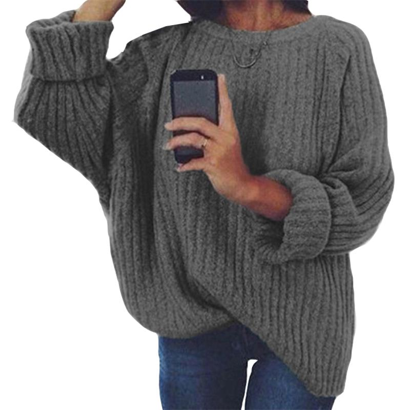 8f6b4395e2acd 2019 Women Sweaters Winter Long Sleeve Casual Knitted Shirts Knitting  Pullovers Casual Tops Loose Plus Size Female Jumpers New M0184 From  Lixlon03