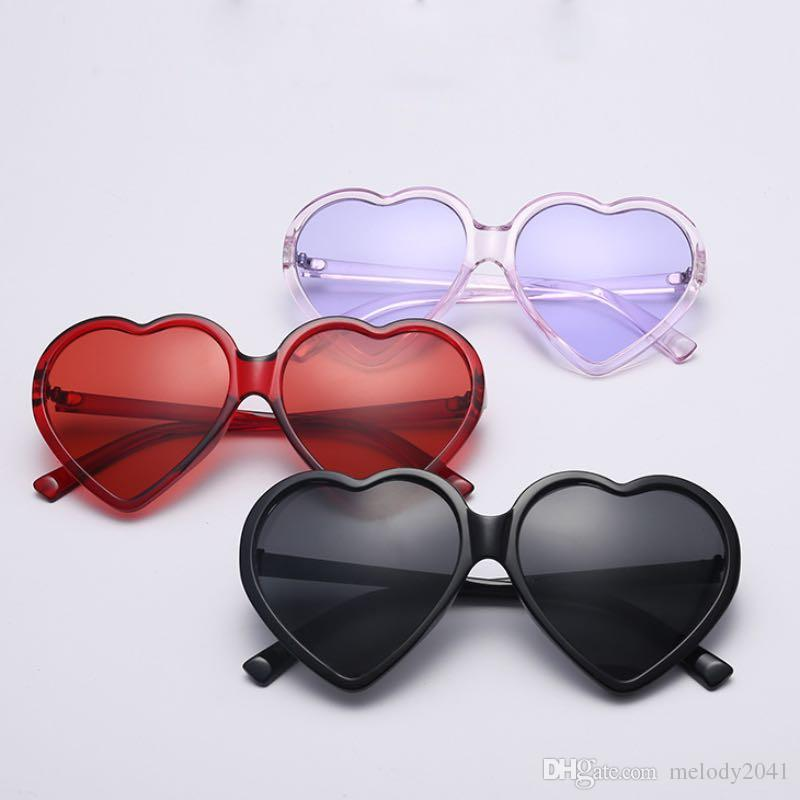 f086031f58 2018 New Big Heart Shape Sunglasses Colorful Frame With Colors Lenses  Trendy Sun Glasses For Women And Girls Wholesale Shop Designer Glasses  Sunglasses Uk ...