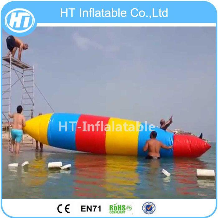 Kostenloser Versand See Aufblasbares Schwimmwasserspielzeug Spiel, aufblasbare Wasser-Springen Blob Kissen Katapult Blob Auf dem Wasser Aqua