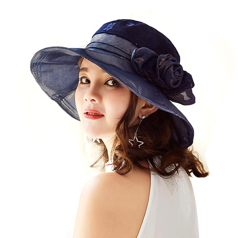 Ladies Hats Fashion Vintage EleFloral Summer Sun Hat For Women Girl Outdoor  Anti Uv Caps Large Brimmed Visor Beach Cap Hats In The Belfry Knit Hats  From ... 39b7edd2a752