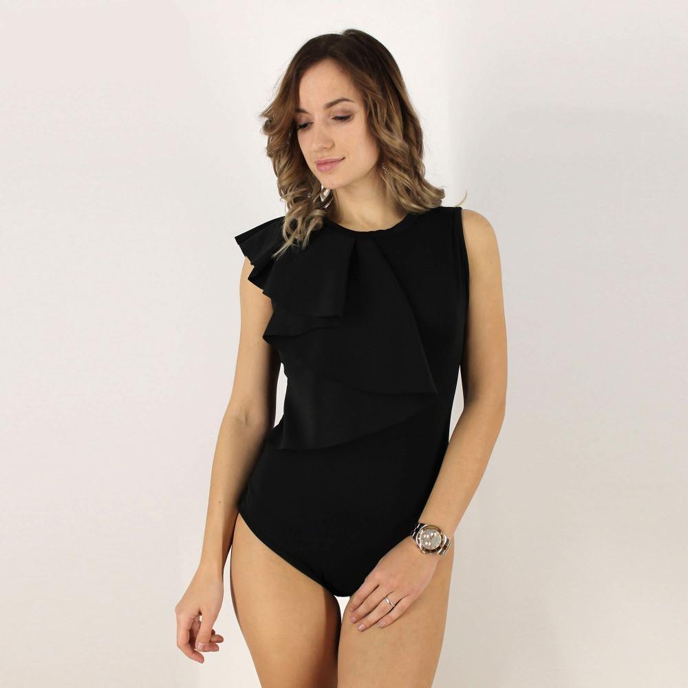 Donna: Abbigliamento Body Maglia Maglietta Donna Nero Elegante Estate Moda Sera Giorno Sexy 2019 Biancheria Intima E Da Notte