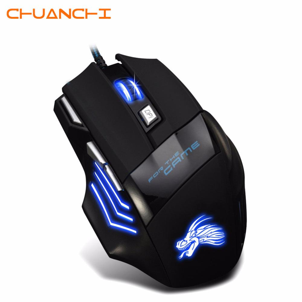 f5a1c08750e 7D USB Wired Gaming Mouse 5500DPI 7 Buttons LED Optical Professional ...