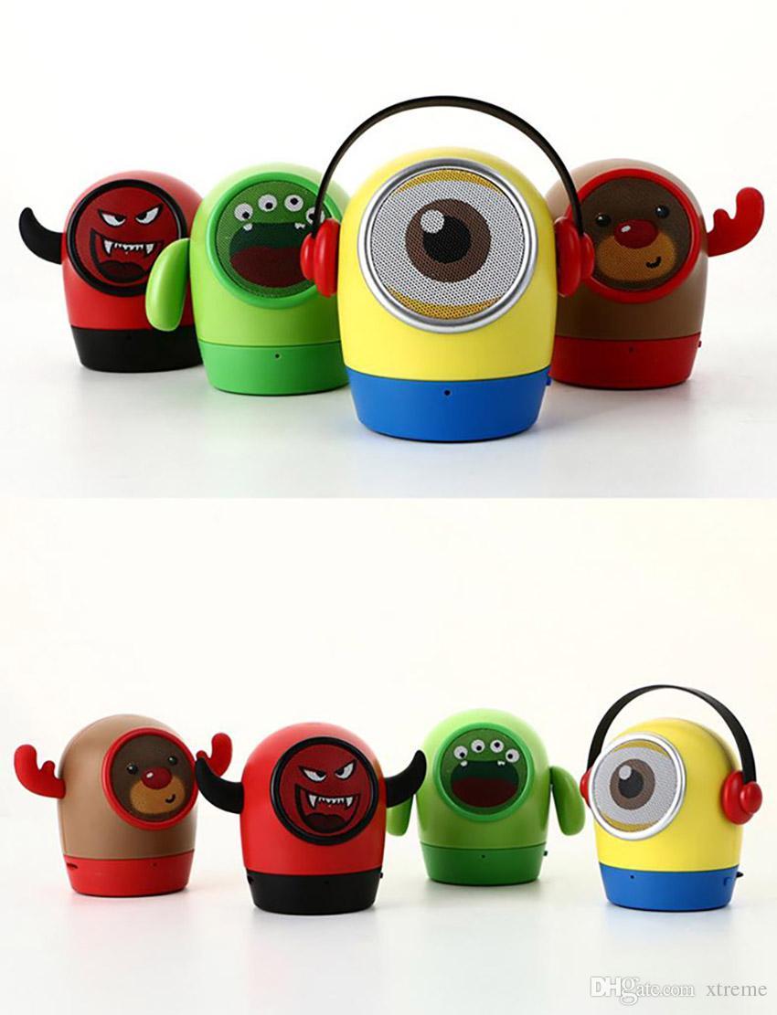 Hot 4 Kinds Mini Minions Bluetooth Speaker Portable Mic TF Handsfree ...