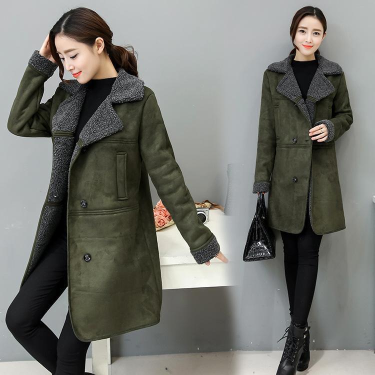 Woman Winter Jacket Coat 2018 Fashion Korean Outerwear For Women Suede  Large Size 3xl Winter Jacket Women Long Coat Xl Cheap Leather Jackets  Baseball