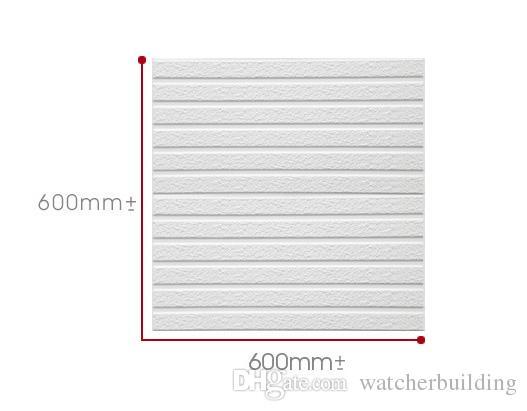 2017 60x60cm PE Foam Decorative 3D Sticker Self Adhesive Wallpaper DIY Brick Living Room Kids Safty Bedroom Home Decor Wall Sticker