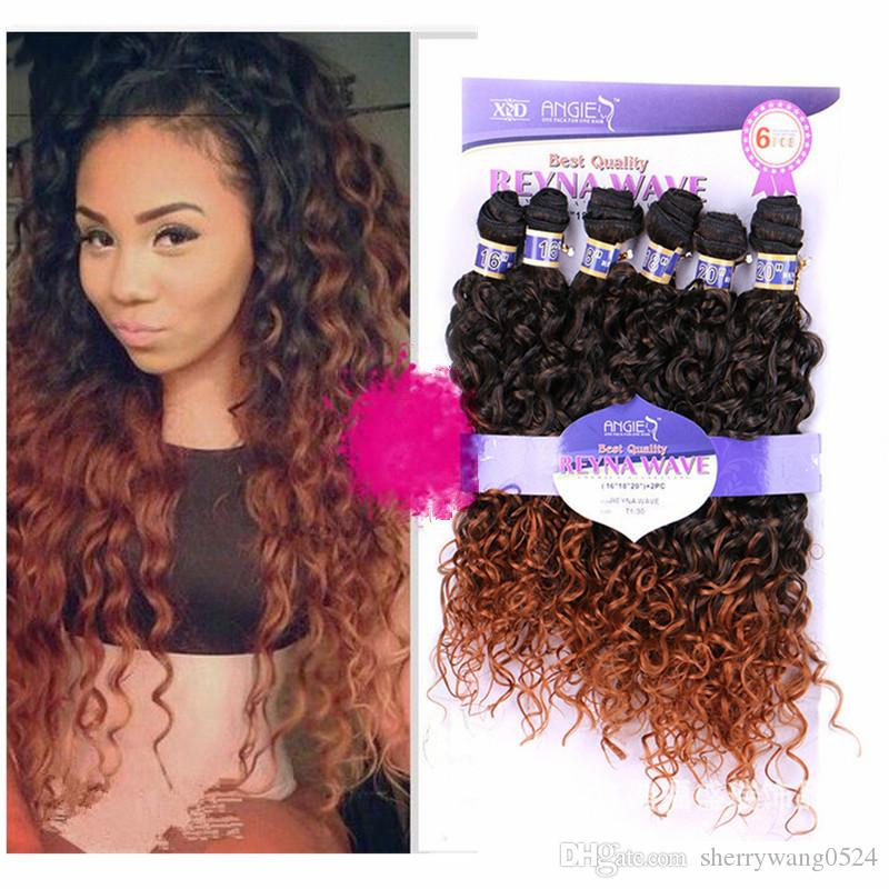 New Arrival High Quality Ombre Colored Hair Weave 161820water Wave