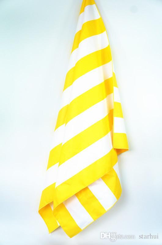 76 * 155 cm Microfiber Quick Dry Stripe Strandtuch Weiche Tasche Und Elastische Haken Für Hanging Off Ground Beach Decke Für Camping Reise WX9-414