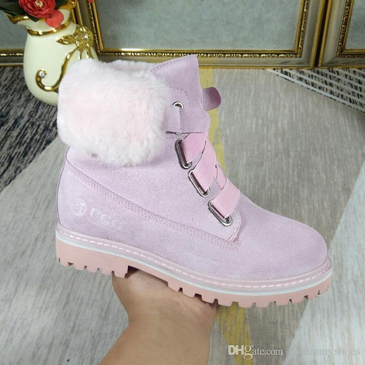 e16dad69b1848 VGG Womens Snow Boots Winter DK331 Warm Fur Plush Insole High Quality Ankle Boots  Shoes With Origin Box Luxury Plush Booties Female Winter Booties Football  ...