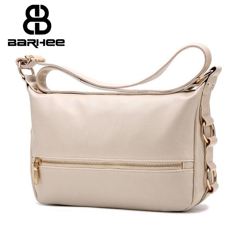 c704059e17e8 BARHEE High Quality Casual Women Leather Messenger Bag Simple ...