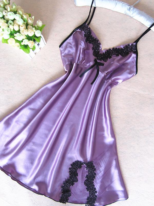 Sexy Deep V Lingerie Pijamas Erotic Eight Women's Nightdress Dress Sexy Sleepwear Vestido Lace For Summer