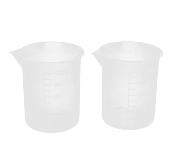 100 mL Mezun Kase için Temizle Plastik Ölçüm Fincan Lab Mutfak Pişirme Sıvı Tedbir Aracı Ücretsiz Kargo