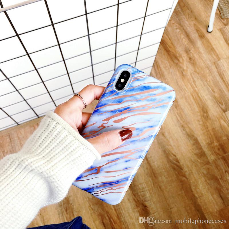 DHL Free Hot sale Marble Case for iphoneX 8 7 7Plus Luxury soft TPU fashion cover for iphone6s 6splus 2018 New IMD case