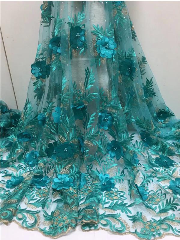 Nouvelle Couture Dentelle Fleur Africain Dentelle Tissu DIY Femmes De Mode De Haute Qualité Tulle Dentelle Robe Designs femmes Robes De Fête De Mariage FCL1826