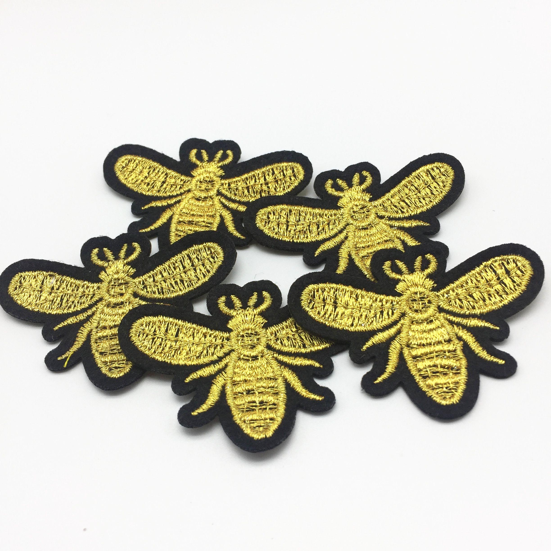 fer à coudre brodé sur les abeilles patchs couture patch pour vêtements applique broderie bricolage fournitures artisanat autocollant