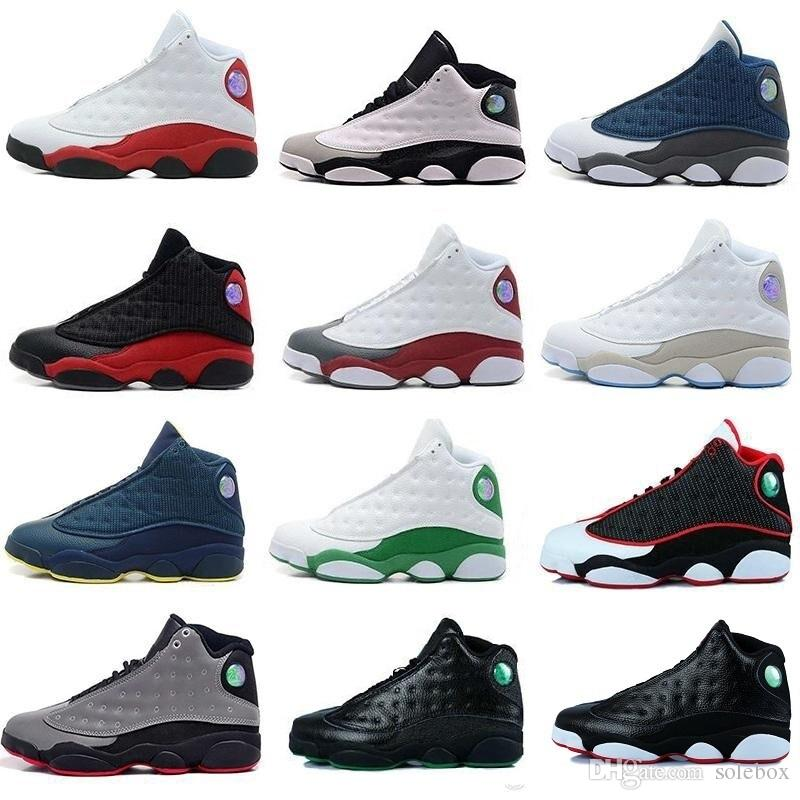 34baa2d1c4e23c New 13 13s Black Cat 3M Reflect Men Women Basketball Shoes 13s Flint Bred  Olive Gym Red Sneakers High Quality He Got Game Hologram Ivory Online with  ...