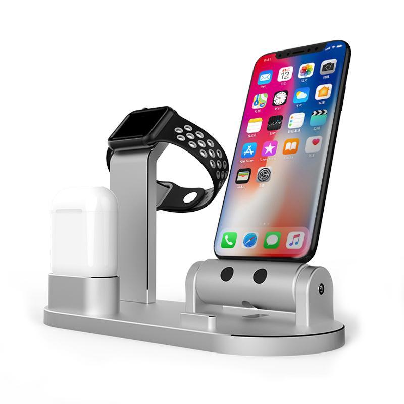 4 in1 Ladestation Ständerhalter für AirPods IPad Air Mini Apple Watch  iWatch 38mm 42mm für iPhone X 8 7 6 6S 5S Plus