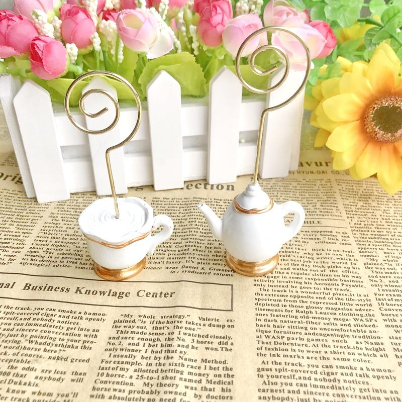 Tea Time Whimsy Place Card Holder Perfect For Tea Party Table Decor