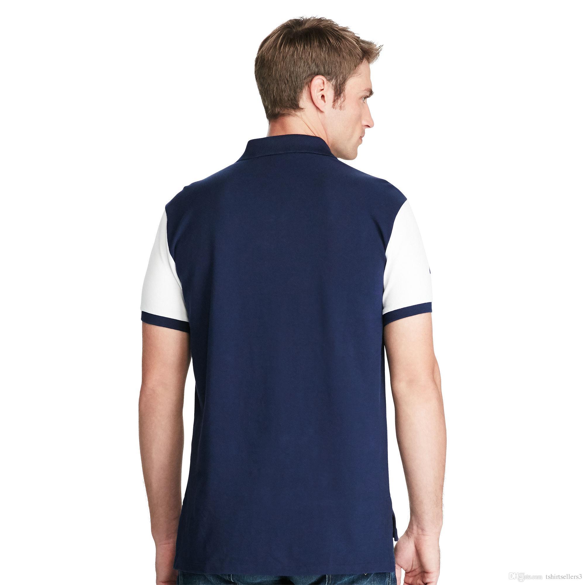 무료 배송! 2018 뉴 핫 세일 클래식 패션 반팔 큰 말 티셔츠 남자 티셔츠 2 stlye 100 % Cottom, 배송비 할인