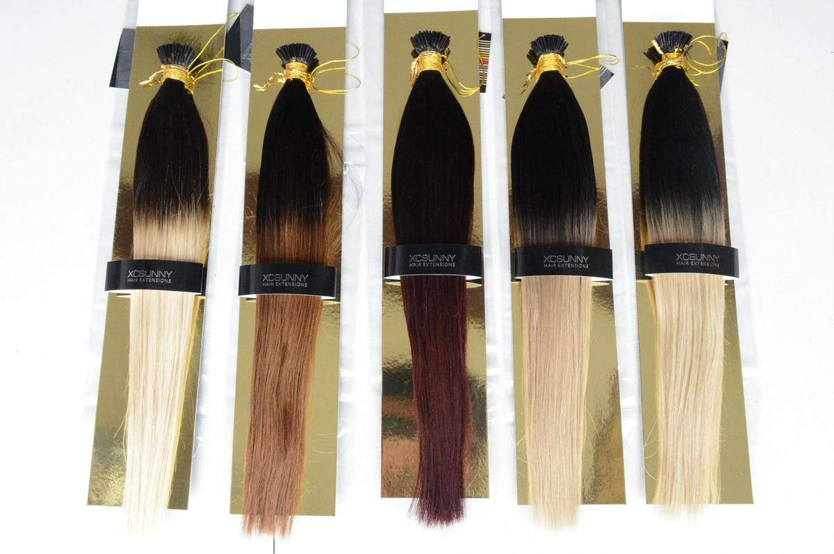 Xcsunny 100g Hair Extensions Ombre I Tip Hair Extensions Remy Thick