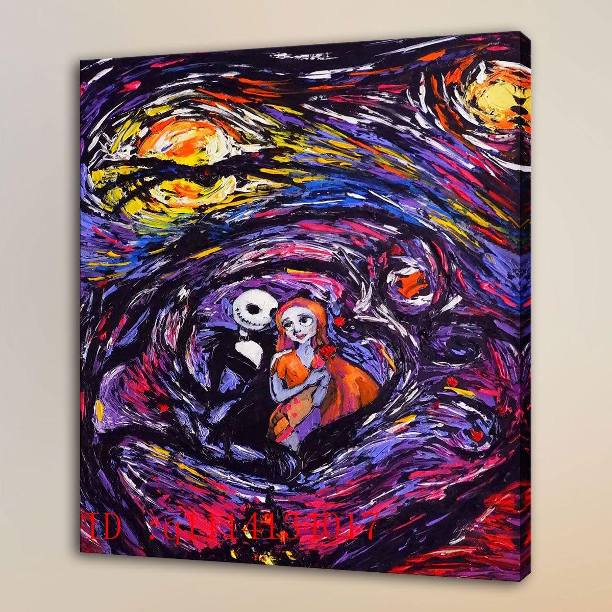 2019 Van Gogh Jack Sally Jack And Sally 1 Hd Canvas Prints Wall Art