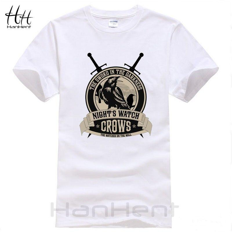 90e83f8fb Men Summer Fashion T Shirts Game Of Thrones Nights Watch Crows T Shirts  2018 New Brand Mens T Shirt Cotton Shirt On T Shirt Hilarious Tee Shirts  From ...