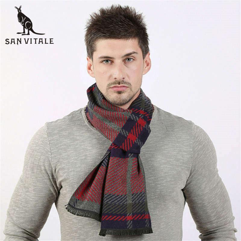 0f3551357fed6 Scarves Men Winter Warm Scarf Winter High Quality Poncho Cashmere ...