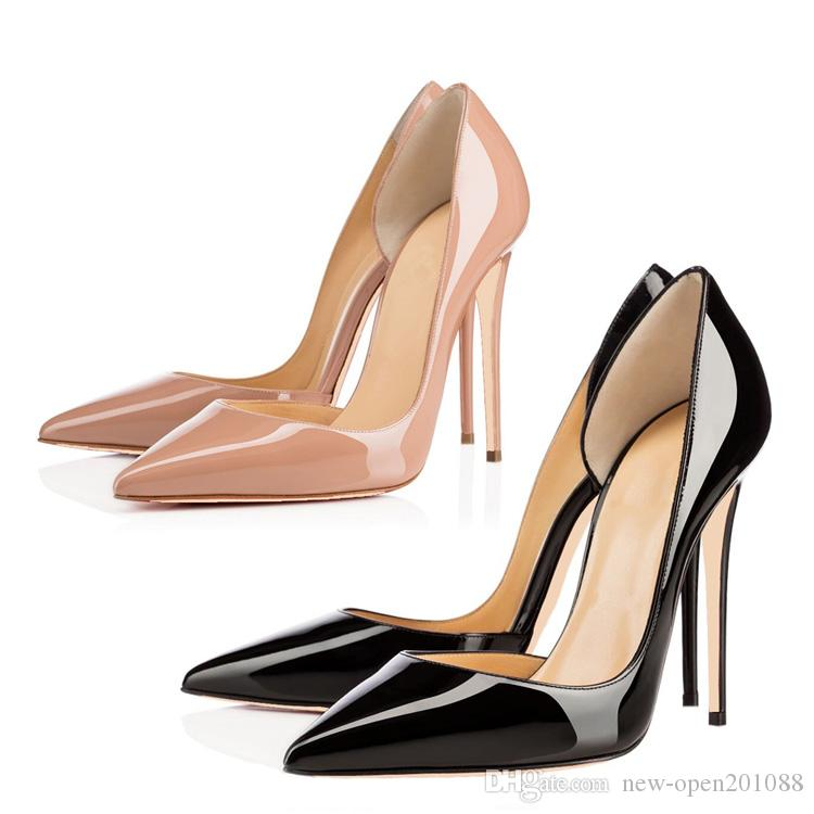 2018 Red Pumps Patent leather Pigalle Heels WOMEN Wedding shoes Pointed toe fine heels Sexy Woman High heels 35-44