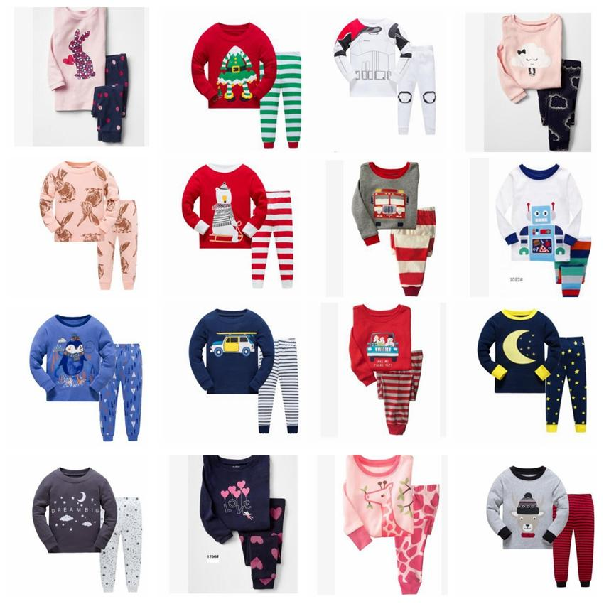 20 Design Unisex Christmas Pajamas Girls Boys Kids Long Sleeve Baby Pajamas  Sets Boys Girls Animal Cotton Nightwear Suit 2 7Y KKA5961 UK 2019 From ... 9dcdf6987
