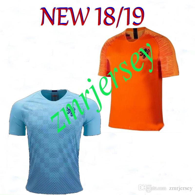 4113bb699 2019 2018 /19 Nederland Soccer Jersey Netherlands Home And Away MEMPHIS  JERSEY ROBBEN 18 19 V.Persie Dutch Thai Quality Football Shirts From  Zmrjersey, ...