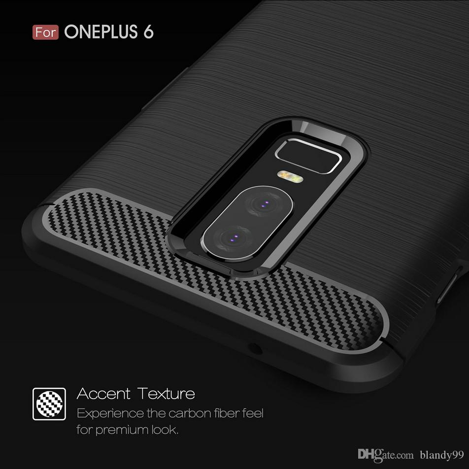For Oneplus 7 6 6T pro Carbon Fiber Silicone hot selling soft Back cover Case For Oneplus 5 5T