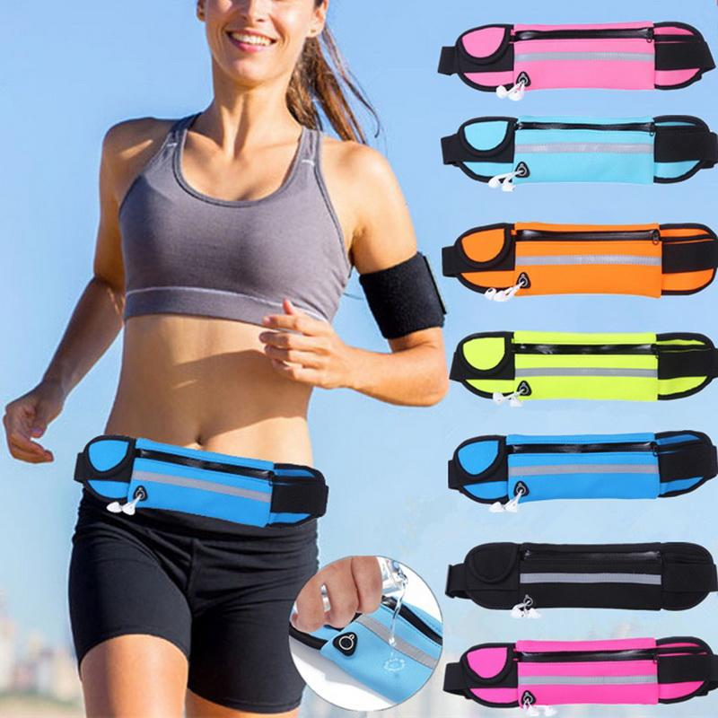 02bce7010aa8 OUTAD Men Women Waist Bag Portable Key Money Phone Pouch Belt Fanny Packs  for Women Travel Bag Unisex Waist Pack Bum Hip