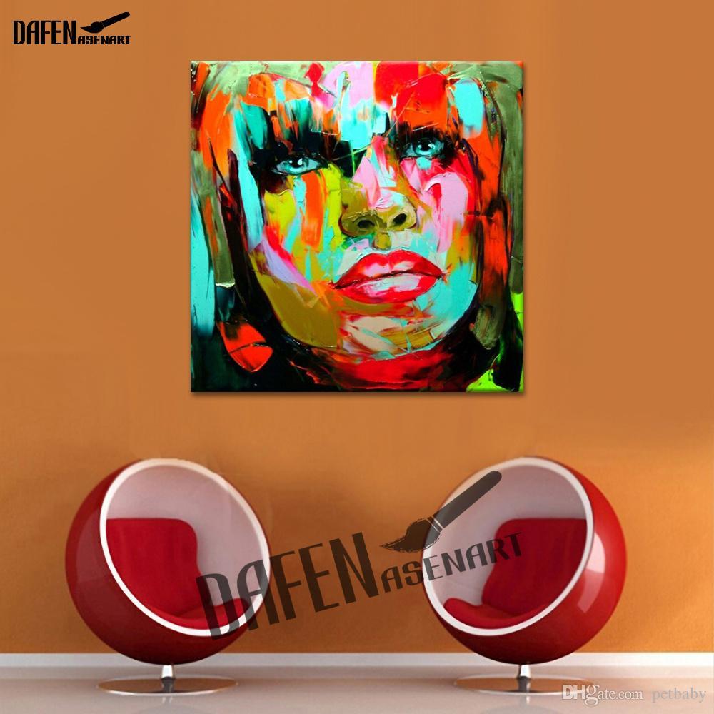 Сексуальные Красные Губы Ручная роспись Маслом Картина на Холсте Мастихином Рисунок Женщина Живопись Главная Гостиная Декор Стены