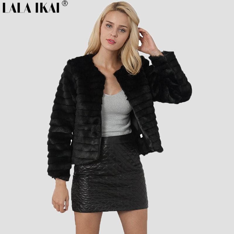 1de867205a 2019 Winter 2018 New Brand Womens Faux Fur Coat Short With Strap Fashion  Long Sleeve Coat From Artificial Black Fur SWQ0417 45 From Beasy114, ...