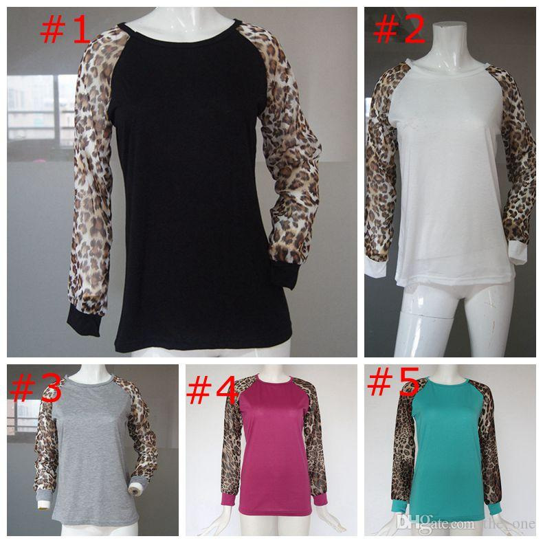 dd1724a60d530 2019 LWomen Ladies Spring Autumn Long Sleeve Raglan Leopard Loose Casual  Maternity Tees Tops T Shirt Plus Size 5XL From The one