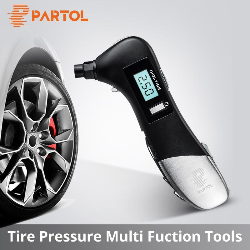 2019 Partol 9 In 1 Multifunctional Tyre Pressure Sensor Digital Tire